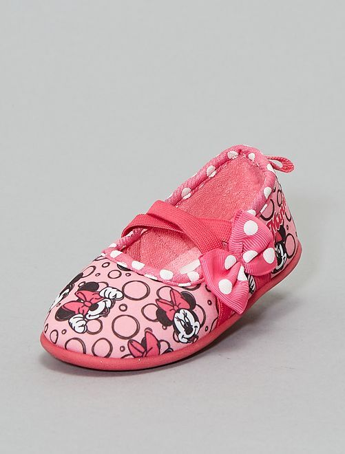 Chaussons ballerines 'Minnie'                                         rose Fille