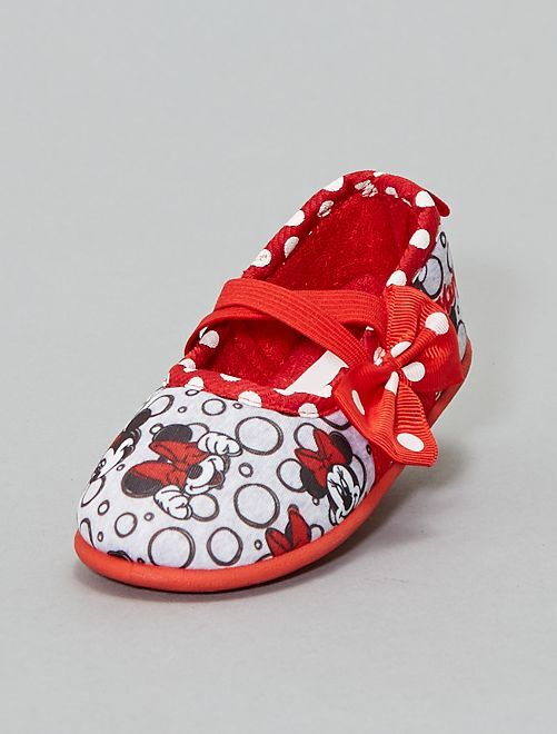 Chaussons ballerines 'Minnie'                     rouge