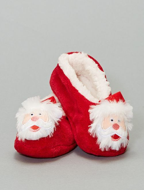 Chaussons ballerines Noël                                                     rouge