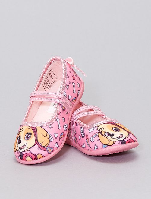 Chaussons ballerines 'Pat' Patrouille'                             rose