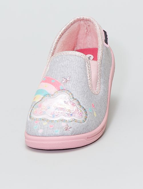 Chaussons bas 'nuages'                             ROSE