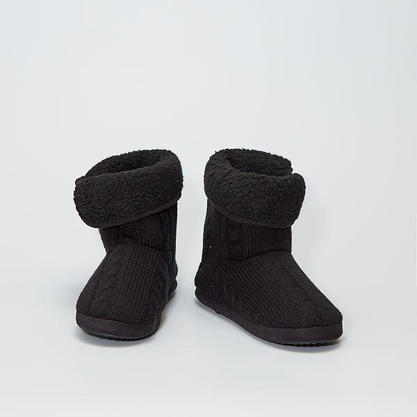 Chaussons boots en tricot