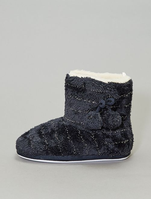 Chaussons boots fourrés                             gris foncé Femme