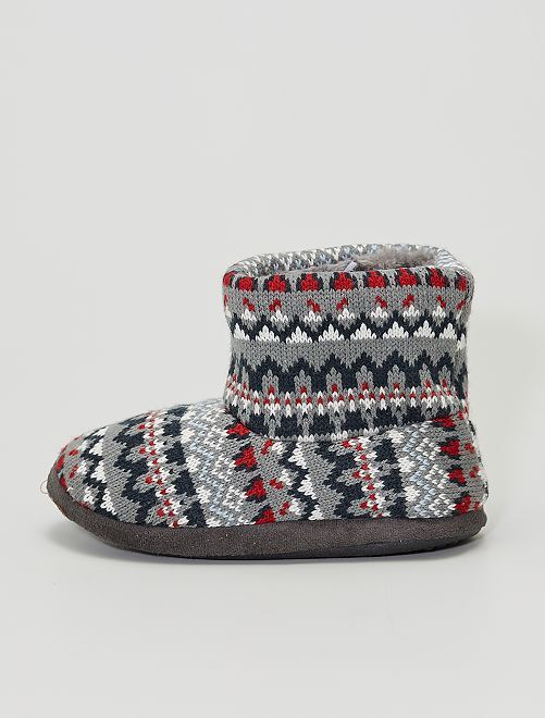 Chaussons boots                                         gris