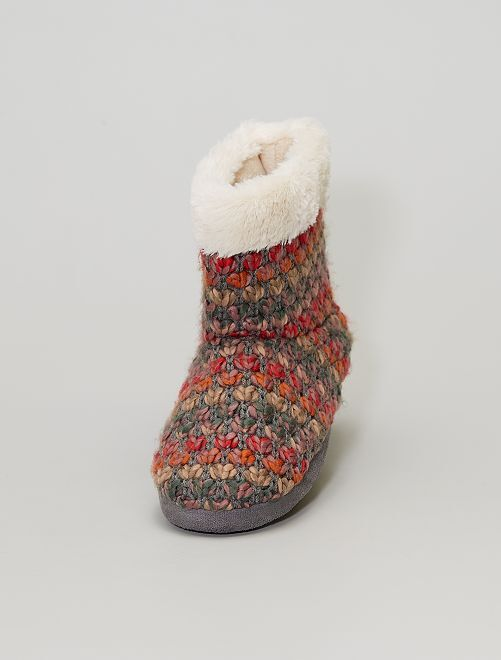 Chaussons boots                             multicolor