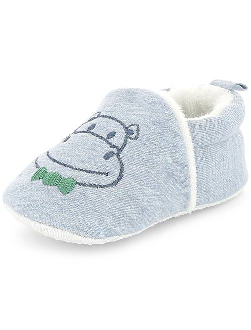 Chaussons broderie 'lapin'                                                     bleu