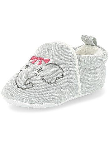 f48633bed7166 Chaussons broderie  lapin  - Kiabi