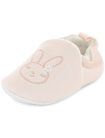 c9231c7e9c2ef Fille 0-36 mois - Chaussons broderie  lapin  - Kiabi