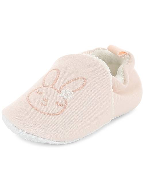 Chaussons broderie 'lapin'                                                                 rose Bébé fille