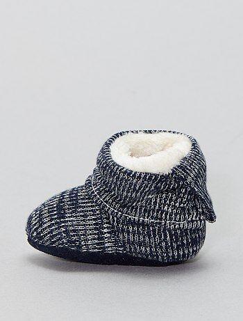 Chaussons chaussettes fourrés - Kiabi