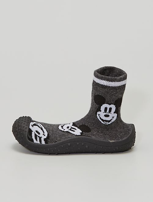 Chaussons chaussettes 'Mickey'                             gris