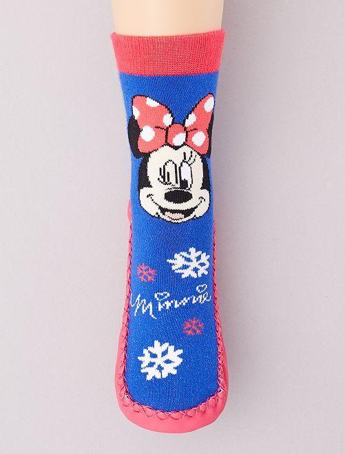Chaussons chaussettes 'Minnie'                             bleu