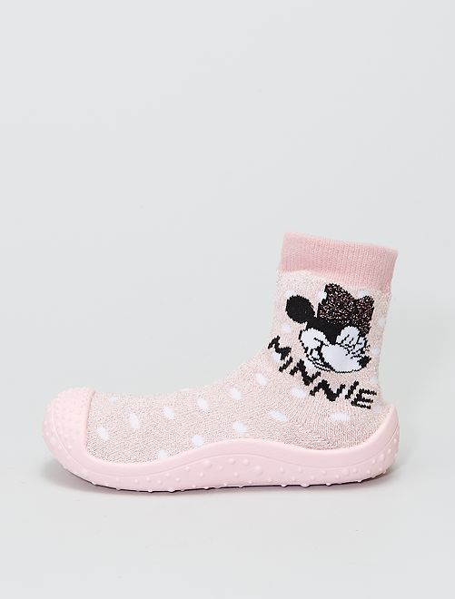 Chaussons chaussettes 'Minnie'                             rose