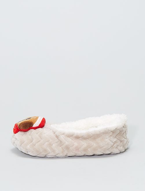 Chaussons de Noël                     beige