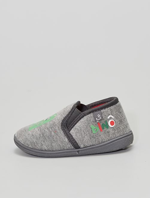 Chaussons 'dinosaures'                             gris