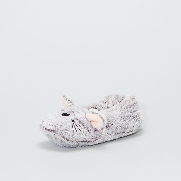 Chaussons en maille peluche