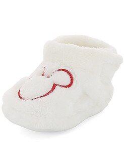 Chaussures bébé - Chaussons en peluche 'Mickey' - Kiabi