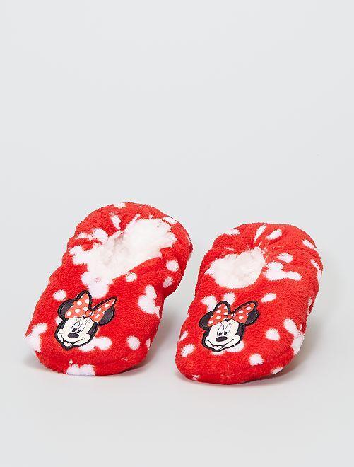 Chaussons en polaire douce 'Minnie' 'Disney'                             rouge