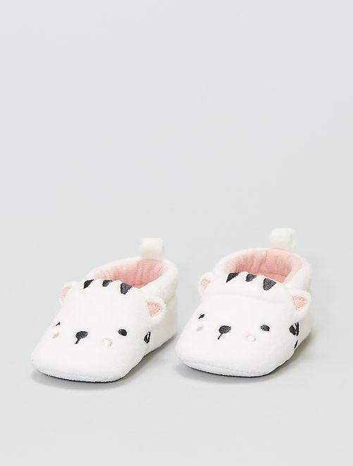 Chaussons en ratine                                         blanc