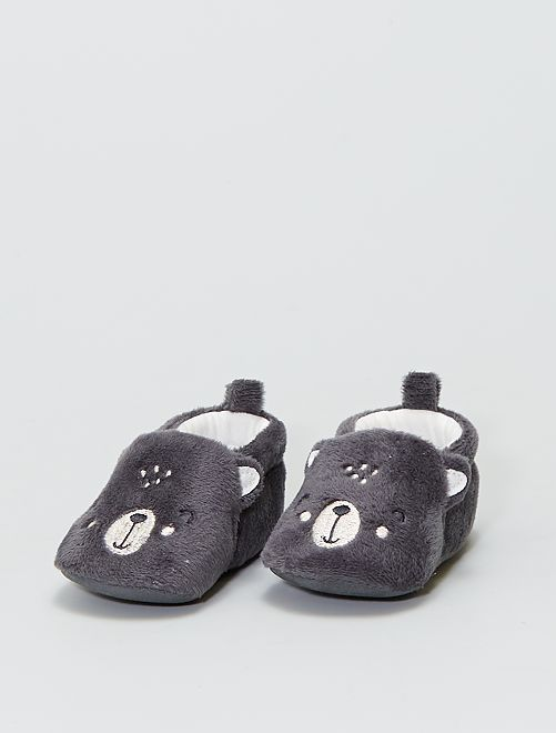Chaussons en ratine                                         gris