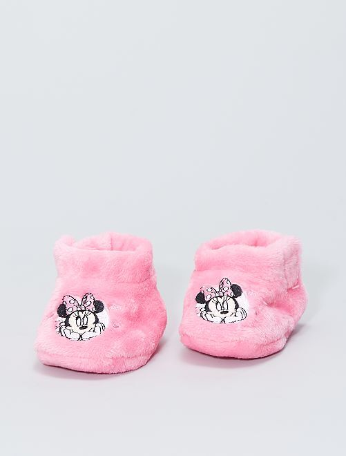 Chaussons en ratine 'Minnie'                                                                 rose