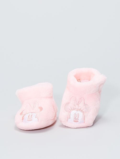 Chaussons en ratine 'Marie'                                 rose clair