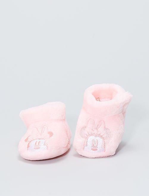 Chaussons en ratine 'Minnie'                                                                 rose clair