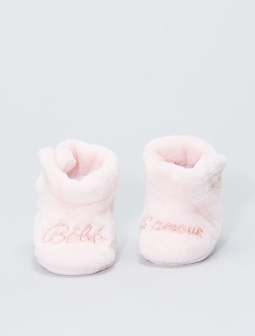 Chaussons en ratine                                         rose