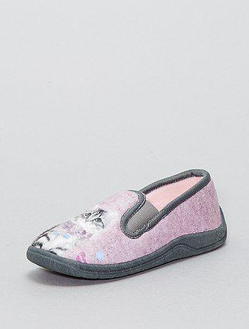 Chaussons en textile 'chat' - Kiabi