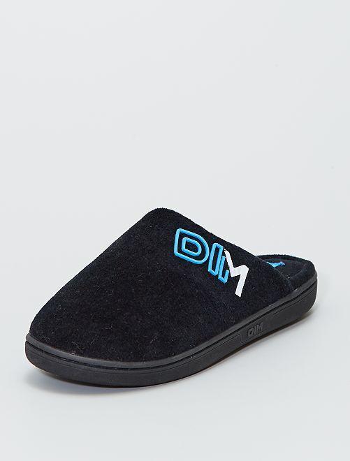 Chaussons forme mules 'DIM'                             noir/bleu