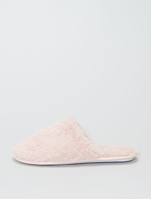 Chaussons forme mules                                         rose