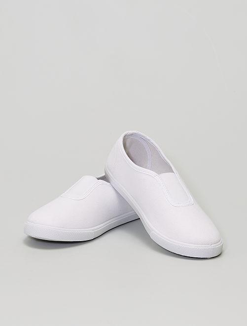 Chaussons gymnastique                             blanc