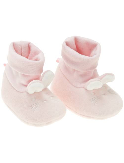 Chaussons 'lapin' 'éco-conception'                                                     rose