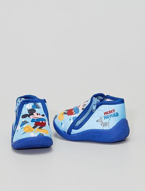 Chaussons 'Mickey Mouse'                             bleu