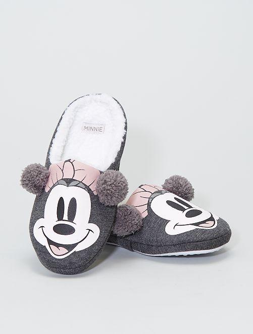 Chaussons 'Minnie Mouse' 'Disney'                             gris