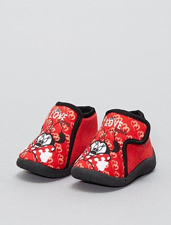 Chaussons montants à scratch `Mickey` `Disney`