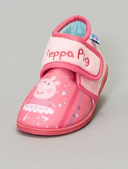 Chaussons montants à scratch 'Peppa Pig'                             rose Fille