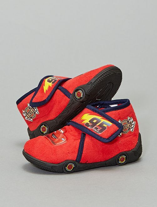 Chaussons montants 'Cars'                             rouge