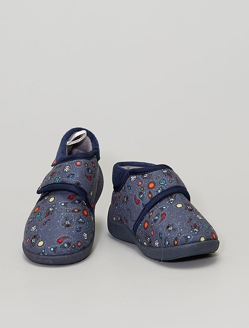 Chaussons montants 'cosmos'                                         BLEU