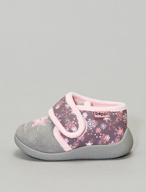 Chaussons montants                             gris Fille