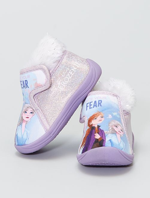 Chaussons montants la 'Reine des Neiges'                                         violet