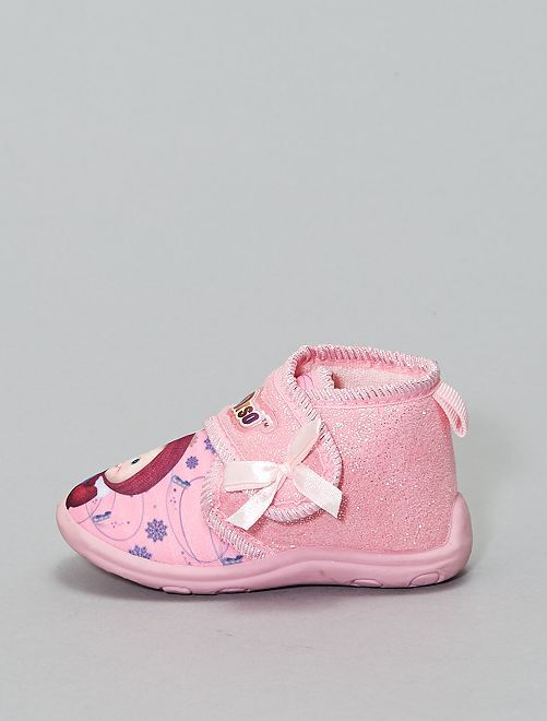 Chaussons montants 'Macha et l'ours'                             rose