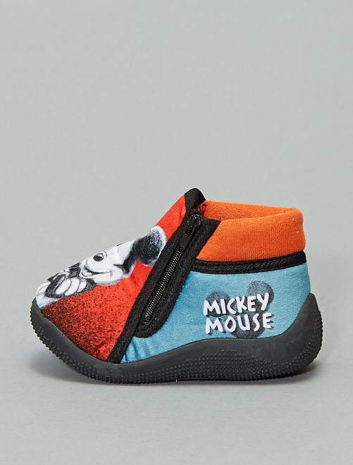 Chaussons montants 'Mickey'                                         rouge