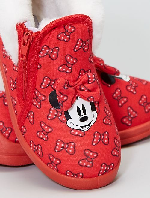 Chaussons montants 'Minnie' 'Disney'                             rouge