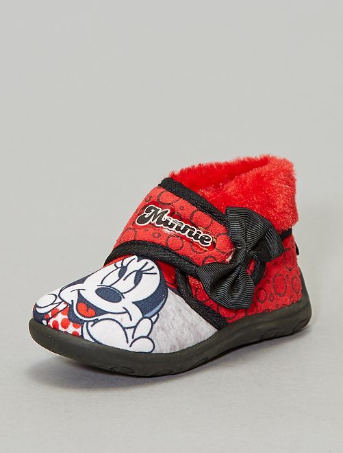 Chaussons montants 'Minnie'                             rouge