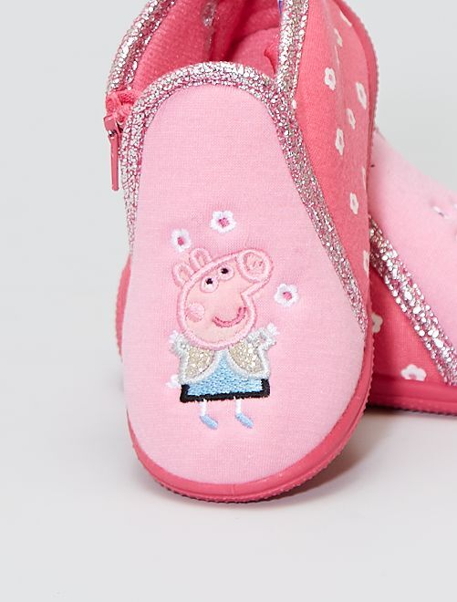 Chaussons montants 'Peppa Pig'                             rose