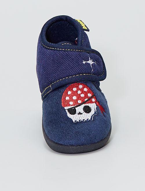 Chaussons montants 'pirates'                             bleu