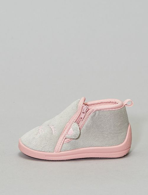Chaussons montants                             rose
