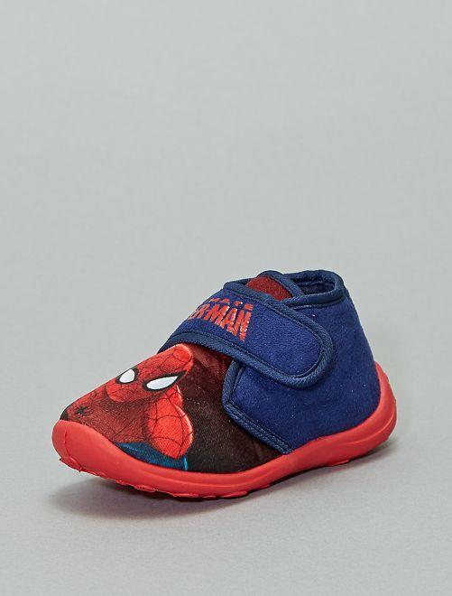 Chaussons montants 'Spider-Man'                             bleu