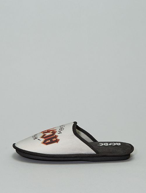 Chaussons mules 'AC/DC'                                         gris